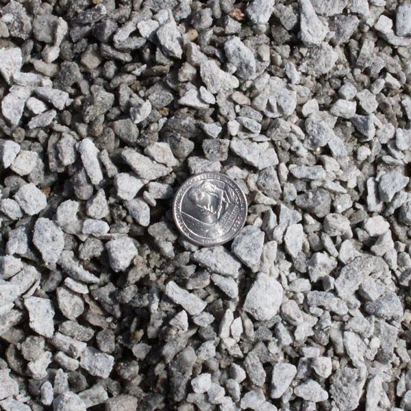 3/8-inch Crushed Gray Granite Stone