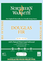 Northern Warmth Douglas Fir Pellets (Green Bag)
